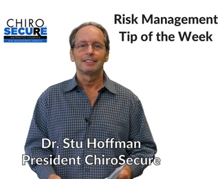 Risk Management Tip of the Week-2